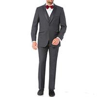gelbe weste männer anzug großhandel-Hochzeitsanzüge für Abendgesellschaft Drei Stück Gelb Männer Anzug Jacke Hosen Weste Neuesten Stil Weste Blazer