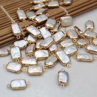 colar contas retângulo venda por atacado-DIY Natural de Água Doce Retângulo Pérolas Beads Barroco Irregular Pérola Irregular Beads para Jóias Fazendo Colar Pulseira Pingentes XL3PPP009