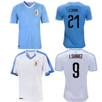 Wholesale uruguay shirt for sale - Group buy 2019 New Uruguay Copa America home blue away white soccer Jersey Suarez Edison Cavani Forlan Godin C RODRIGUEZ national football shirt