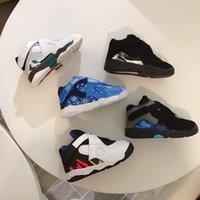 zapatos de bebé brillantes al por mayor-Infantiles BP 8S COPO los niños zapatos de baloncesto de color blanco brillante negro Concord infrarrojo 8 zapatillas de deporte deportes nuevos bebés nacidos niñas Boy Formadores
