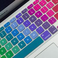 ingrosso macchia della tastiera della retina del macbook-Zimoon colorato silicone copertura della tastiera Laptop Notebook Protector per 11