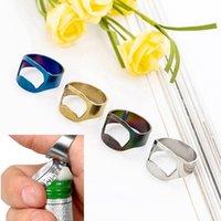 20mm  Edelstahl-Finger-Ring-Flaschen-Öffner-Bier-Stab-Werkzeug-Silber ZP