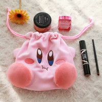 Wholesale plush cosmetic bags resale online - Animal Kirby Cosmetic Storage Bags Cartoon Soft Women Organizer Plush Stuffed Makeup Bag Pink Factory Direct Sale fz BB