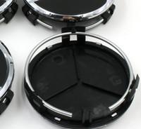 yeni araba tekerlekleri toptan satış-Yeni 75mm mat siyah araba styling Tekerlek Merkezi hub Cap Tekerlek Hub Cap araba aksesuarları