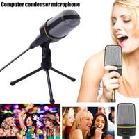 mikrofon stand pc toptan satış-Mikrofon Ile Ses Kayıt Standı Tripod Bilgisayar PC SGA998 Için Ayarlanabilir Dönebilen