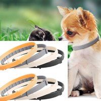Wholesale dog flea collar resale online - Dog Cat Preventic Tick Collar Anti Flea Tick Dog Collar Silicone Adjustable Collar Summer Home Pet products Pet Accessories drop ship