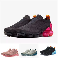 Wholesale sneakers for gym resale online - 2019 Mens Laceless Multicolor Releasing Triple Moc Black Running Shoes For Women Moc Sneakers Sports Trainers