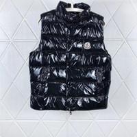 kukuletalı rüzgarlık sugeçirmez toptan satış-Erkekler Tasarımcı Ceket Yelekler Aşağı Ceket Kapüşonlu Aydınlık Su Geçirmez Erkekler Kadınlar Için Marka Giyim Rüzgarlık Lüks Hoodie Ceket Kalın Giyim