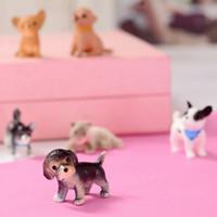 ingrosso animali da miniera giocattolo-2019 pvc gatto cane Mostro modellato a iniezione uovo giocattolo cartone animato potente in miniatura plastica animale ventosa bambola