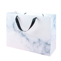 Wholesale textured paper resale online - 100pcs Marble Textured Gift Bag for Ceremony Awards Anniversary Celebration Wedding Banquet Birthday Gift X13X27cm X10X30cm14X8X16cm