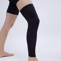 Wholesale knee pad cushion resale online - Football basketball No honeycomb Long plus velvet leggings leg protectors Cushioning calf protector cycling leg sleeves LJJZ88