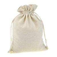bolsa artesanal venda por atacado-Sacos de presente de Embalagem de Cordão para Handmade Musselina De Algodão café Feijão De Jóias De Armazenamento De Malote De Casamento Favores Rústico Folk Natal