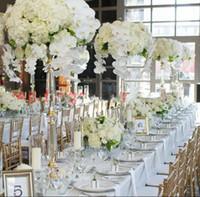 floreros de acrílico al por mayor-Nuevo estilo de acrílico candelero vela pieza central de la boda evento carretera plomo flor puestos estante florero
