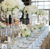 ingrosso fiori di piombo stradali-Nuovo stile acrilico portacandele candela bastone centrotavola matrimonio evento strada fiore porta cremagliera vaso