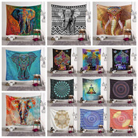 toalhas compressas mágicas gratuitas venda por atacado-30pcs 26 estilos Bohemian Mandala Tapestry Toalha de Praia Xaile impresso Yoga Mats poliéster Toalha de banho Decoração Pads externas CCA11527-A