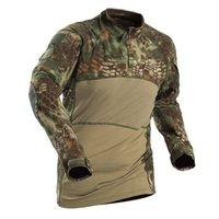 tela de rana al por mayor-Hot Tactical IV Frog Clothes Combat Hombres Mujeres Army Fans Camisa de camuflaje Camping al aire libre Escalada Entrenamiento Pesca Tops
