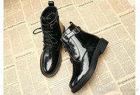 Wholesale lace up boots korean style for sale - Group buy Martin Boots Femal England Style New Autumn Winter Flat Shoe Student Korean Boot Shoe Low Heel Short Flat Boots