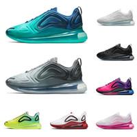 zapatillas deportivas de mujer al por mayor-2019 nike air max airmax 720 zapatillas de correr para hombre mujer TRIPLE NEGRO VOLT SEA FOREST atardecer GYM RED para hombre entrenador zapatillas deportivas de moda