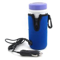 car water heater بالجملة-جديد وصول المحمولة سيارة سخان زجاجة أدفأ سيارة 12 فولت dc سفر الطفل أطفال الحليب زجاجة المياه البسيطة مبرمج العالمي C6350