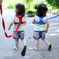 Wholesale baby toddler walking belt resale online - Child anti lost strap Baby Walking Harness Toddler Kids Anti lost Safety Shoulder Strap Belt Fashion Angel Design Baby Safety strap LT852