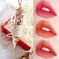 Wholesale three color lip resale online - AGAG Three color Lipstick Matte Waterproof Lip Stick Makeup Cosmetics Beauty Lips Lipsticks Make Up Gift TSLM1