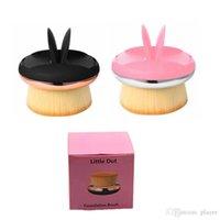 pequena escova venda por atacado-2019 Little Dot Foundation Pincel de Maquiagem Escova 2 Cores Padrão de Design Blush Pó Solto Pincéis 3001386
