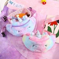 Wholesale cute phone pouches for sale – best Unicorn Plush Waist Bag Cute Cartoon Kids Fanny Pack Girls Belt Bag Fashion Travel Phone Pouch Lovely Chest Bag Storage Bags DBC BH2639