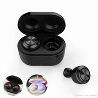 bluetooth stereo kulaklık kulaklık toptan satış-Hava Ikizleri A6 Mini Kablosuz Bluetooth 5.0 Kulaklık TWS Kulakiçi Şarj Kutusu Ile Stereo Gerçek Kablosuz Kulaklık Mikrofon Ile Gürültü Orta ...