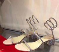 ingrosso scarpe di nozze coperte diamanti-2019 nuovi sandali Top donna con scatola di fiori corretta sacchetto della polvere scarpe firmate stampa serpente lusso scivolo moda estiva ampia sandali piatti pantofola