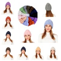 beanies da moda feminina venda por atacado-Chapéus de Inverno das Mulheres da forma de Malha Chapéu Bonito Crânio Quente Elástico de Malha Cap Senhora Ao Ar Livre de Viagem de Esqui Cap Gorro T2C5068