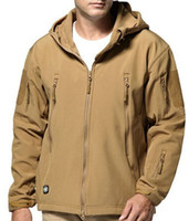 Wholesale bamboo stitch knitting resale online - 2009 New Shark Skin Tactical Charge Soft Shell Jacket Overcoat for Men s Outdoor Mountaineering Suit B007