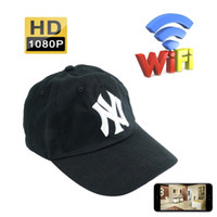 ingrosso prezzi delle telecamere esterne-32GB 1080P Wifi Cappello Network Camera HD Baseball Cap DVR Sicurezza Nanny Cam Telecamera wireless Videoregistratore portatile Videoregistratore DVR Mini DV