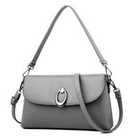 Wholesale unique designer handbags resale online - 2019 hot new lychee pattern simple female bag shoulder diagonal package designer unique design ladies handbag