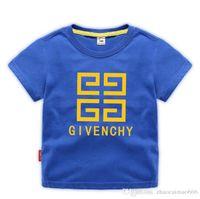 t-shirts imprimés pour enfants achat en gros de-2019 Mode Été Garçons Filles Vêtements Enfants Designer T-shirt À Manches Courtes Enfants Imprimer Chat Chemise Tops Garçon T-shirts 2-8T Années
