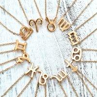 zodiac sign bracelets großhandel-Multilayer 12 Constellation Sternzeichen Fußkettchen für Frauen Mädchen Gold Beach Knöchel Armband auf Bein Modeschmuck 2019 Geschenke