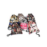 frisches zeug großhandel-Canvas Beam Bag Outdoor Motion Lauftaschen Fresh Unisex Beide Schultern Rucksack Mehr Farbe Elastisches Seil 16 9le C1