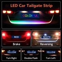 auto drehen licht signalleuchte großhandel-LED Auto Heckklappe Lichtleiste 4 Farben Bremse Fahr Blinker Lampe Fahrsignal Ritter Kofferraum Lampe HHA55
