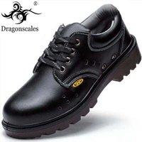 botas de seguridad clásicas al por mayor-Zapatos de seguridad Puntera de acero antiperforante Zapatos de trabajo Botas de seguridad ocasionales para hombres Obra clásica antideslizante para hombres