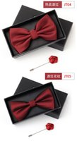Wholesale 2018 new bow tie men wedding ceremony groomsmen group bow suit wine red high end red bow women