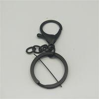 anéis chaves lisos venda por atacado-Hot moda de alta qualidade flat anel com 4 cor corrente de moagem anel chave de metal pendurado anel feminino saco de jóias pingente