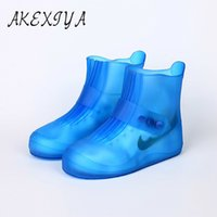 Wholesale rubber boots men rain fashion for sale - Group buy AKEXIYA New Men and Women Water Shoes Suit Fashion Waterproof Non slip Thickening Rain Boots In The Tube Children s Shoes