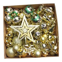 bolas de adornos de navidad azul al por mayor-Estilos de bola de Navidad ornamento surtidos azul rojo de Navidad de oro Ornamento colgante de la boda del árbol del partido del hogar