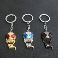 venda de figuras de resina venda por atacado-Venda quente Novo Design Vingador Venom Máscara Crânio Chaveiro Superhero Chaveiro Aranha Negra Chaveiro Figura Titular chave Marvel