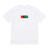 siyah gömlek gündelik moda toptan satış-19SS KUTUSU LOGOSU Kırmızı Siyah Yeşil Mektup Baskı Hip Hop Tee Kaykay Serin T-shirt Erkek Kadın Pamuk Rahat Karikatür Moda T-Shirt HFHLTX008