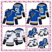 Wholesale St Louis Blues Jerseys Vladimir Tarasenko Alex Pietrangelo Brayden Schenn Embroidery Logos