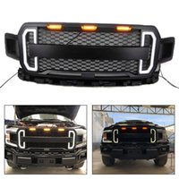 Wholesale parts for cars for sale - Group buy Areyourshop Front Bumper Grill Grille For Ford F150 F With Amber LED Lights Front Grille Car Styling Parts