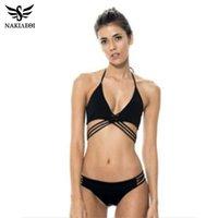 2925b259903 NAKIAEOI 2019 Newest Sexy Bandage Bikini Women Swimsuit Swimwear Brazilian  Bikini Set Beach Bathing Suit Swim Wear Biquini S~XL