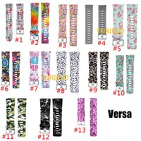 Wholesale women s bracelet watch bands for sale - Group buy Printed Silicone Replacement Band Bracelet Strap Wrist Watchband for Fitbit Versa Smart Fitness Watch patterns for Men Women S L Size