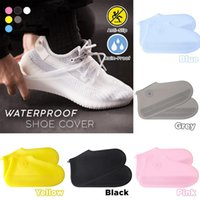 zapatos de cubierta plana unisex al por mayor-Moda nuevos zapatos impermeables unisex cubierta antideslizante lluvia zapatos cubierta moda zapatos planos cubierta