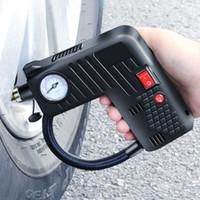 Wholesale 12v auto electric car resale online - Portable Air Compressor Cordless Electric Auto Car Bike Tire Inflator Pump V